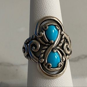 Carolyn Pollack Sterling Silver Turquoise Ring